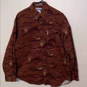 Men's Columbia Hunting Deer Shirt Sz Medium